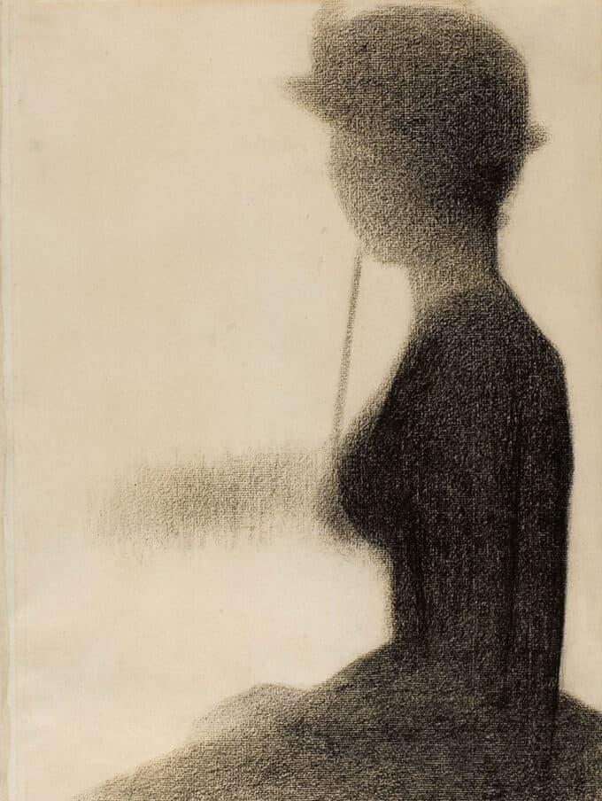 زن-نشسته-با-چتر---ژرژ-سورا