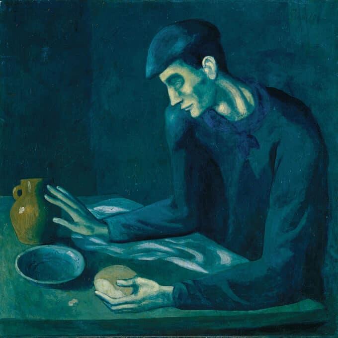 غذای-مرد-نابینا---پابلو-پیکاسو