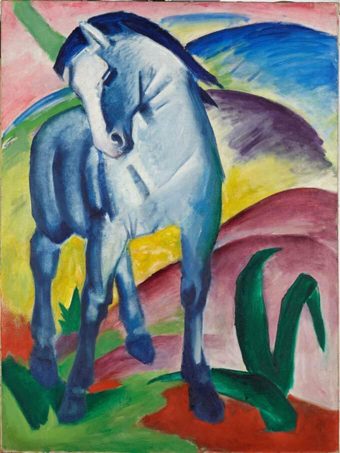 اسب-آبی-رنگ---فرانتس-مارک