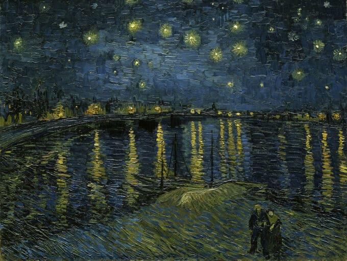 شب-پرستاره-برفراز-رود-رن---ونسان-ون-گوگ