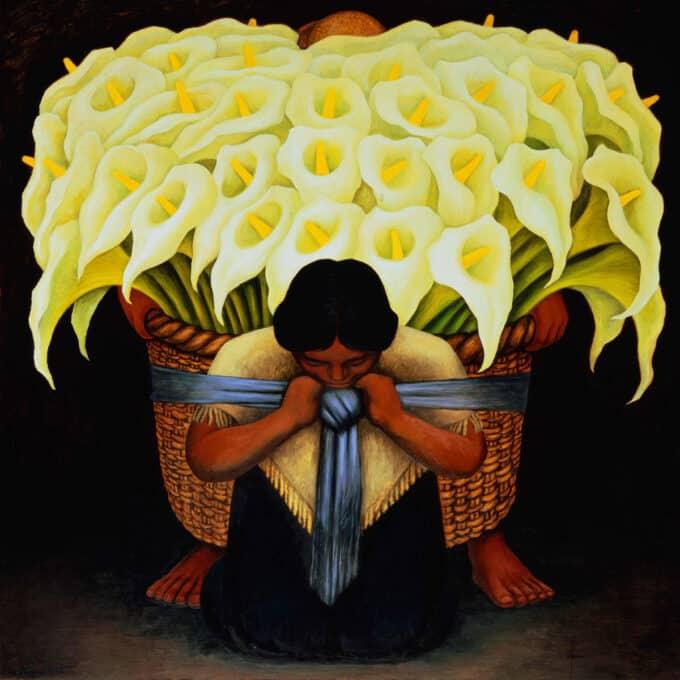 فروشنده-گل---دیه-گو-ریورا