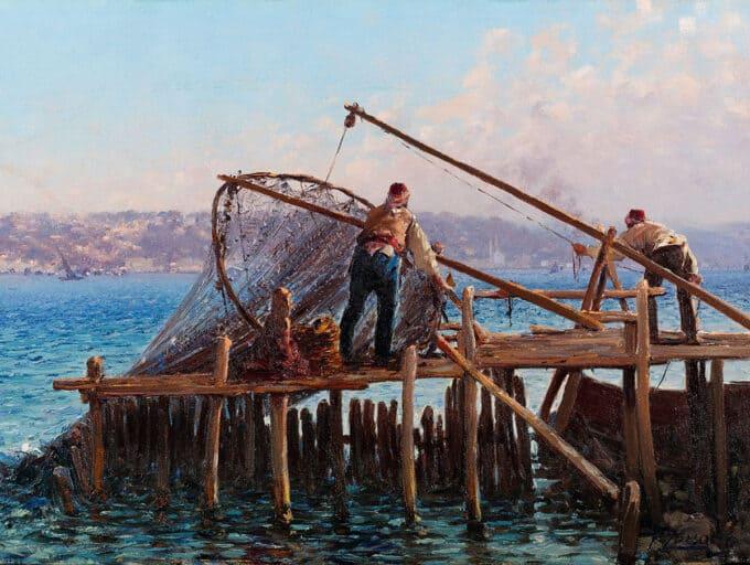 ماهیگیران-در-حال-صید---فائوستو-زونارو