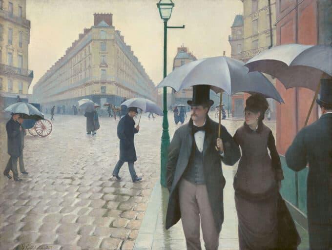 پاریس،-یک-روز-بارانی---گوستاو-کایبوت