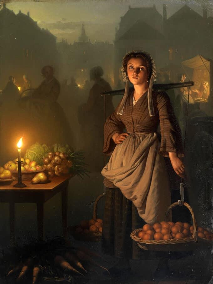 بازار-در-نور-شمع---پتروس-فن-خندل