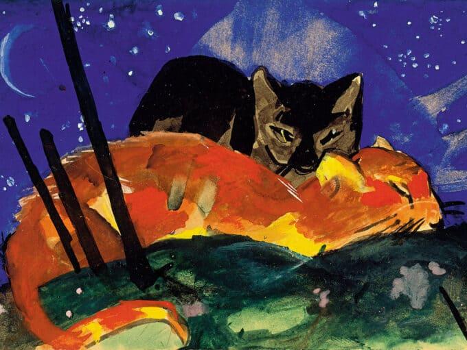 دو-گربه---فرانتس-مارک