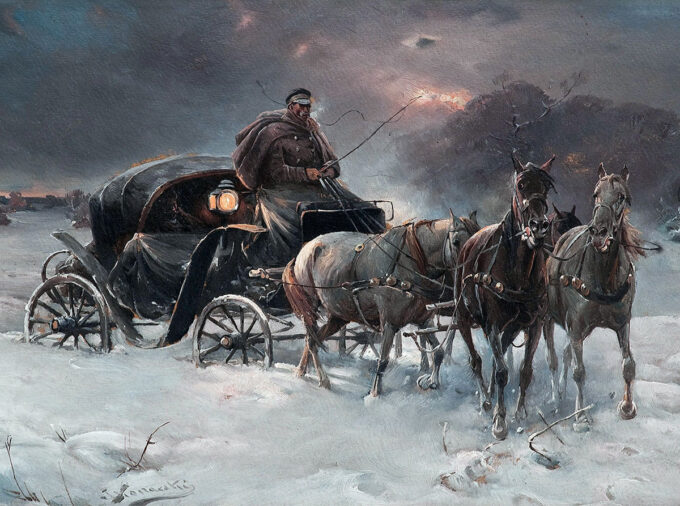 سفر-در-شبی-زمستانی---آلفرد-کوالسکی