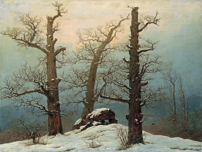 سنگ-چین-در-برف---کاسپار-داوید-فریدریش