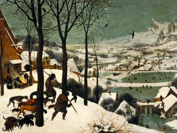 شکارچی-ها-در-برف---پیتر-بروگل