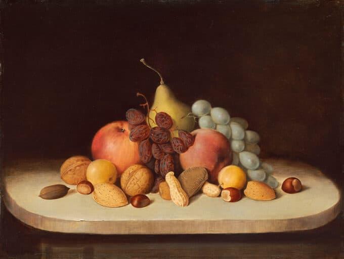 طبیعت-بی-جان-با-میوه-و-آجیل---رابرت-دونکنسون