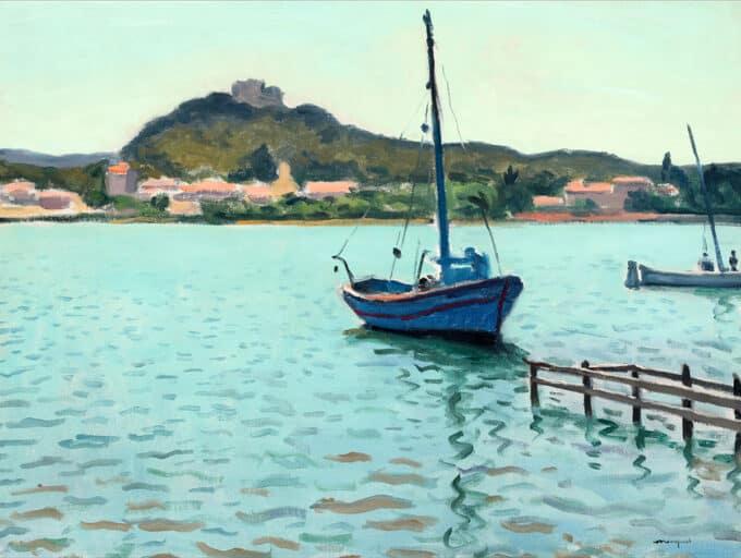 قایق-آبی-در-پورکیرولس---آلبر-مارکه