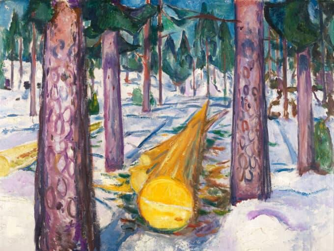 کنده-درخت-زرد---ادوارد-مونک