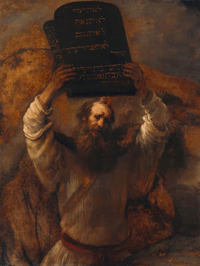 موسی-و-ده-فرمان---رامبرانت