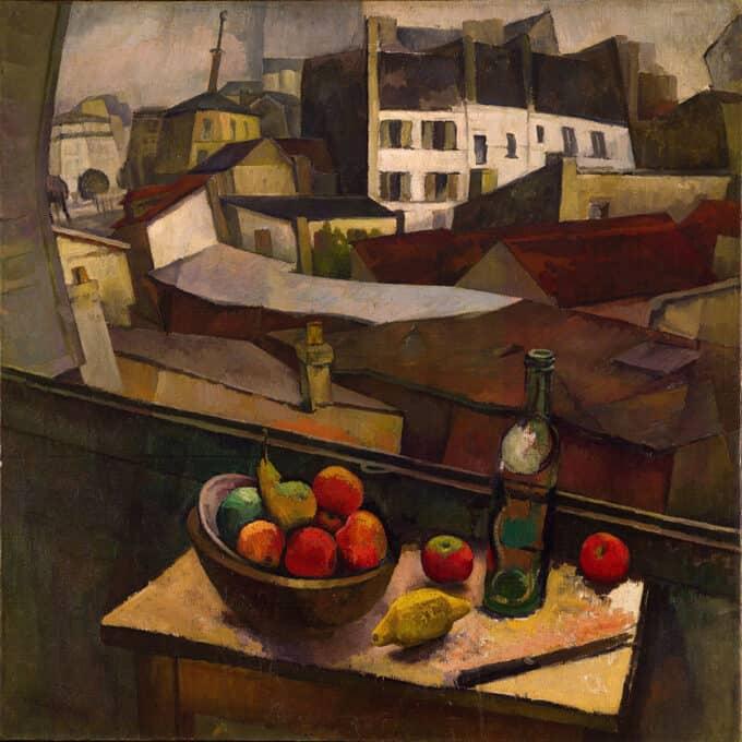 میوه-و-چاقو-در-مقابل-پنجره---دیه-گو-ریورا