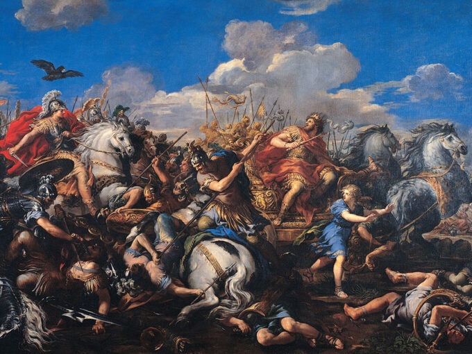 نبرد-اسکندر-در-مقابل-داریوش---پیترو-داکورتونا