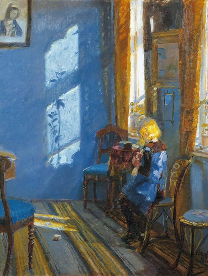 نور-آفتاب-در-اتاق-آبی---آنا-آنچر