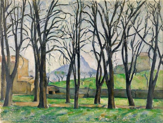 درختان-بلوط-در-ژا-ده-بوفان---پل-سزان