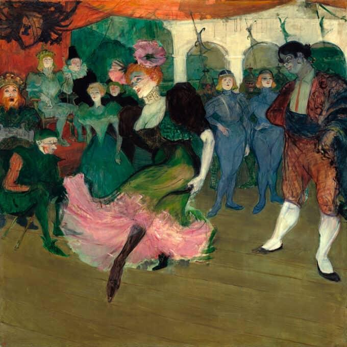 رقص-مارسل-لندر-با-قطعه-بولرو-–-آنری-دوتولوز-لوترک