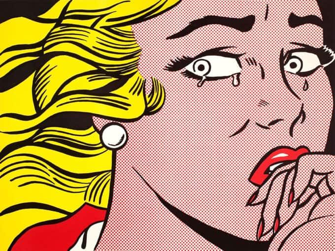 دختر-گریان---روی-لیکتنستاین