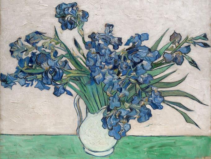 زنبق-ها-در-گلدان-سفید---ونسان-ون-گوگ