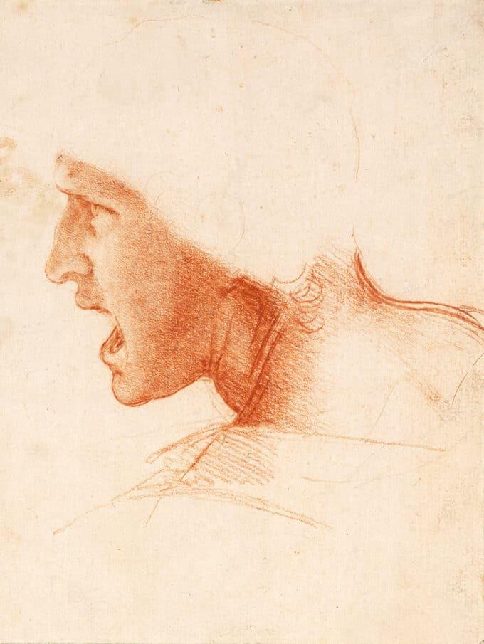 طرحی-برای-سر-یک-سرباز---لئوناردو-داوینچی