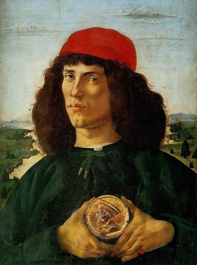 پرتره-مردی-با-مدال-کوزیموی-مهتر---ساندرو-بوتیچلی