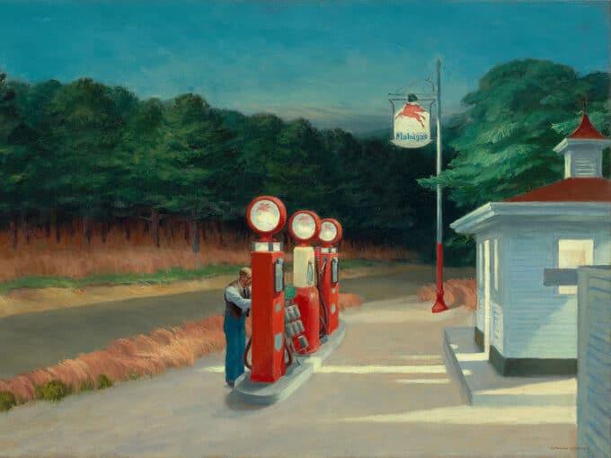 پمپ-بنزین---ادوارد-هاپر