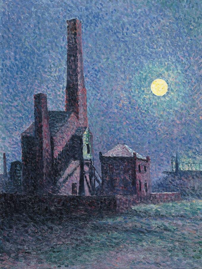 نمای-کارخانه-در-مهتاب---ماکسیمیلین-لوس