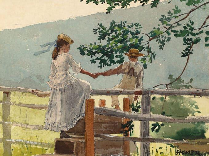 روی-حصار-چوبی---وینسلو-هومر