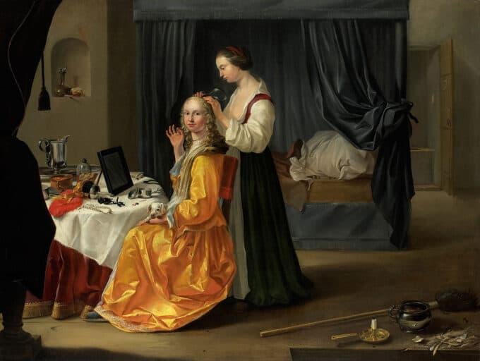بانو-و-میز-آرایش---نقاش-ناشناس-هلندی
